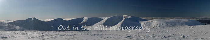 View from Ben Macdui on a guided walk with out in the hills