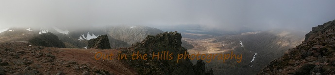 View from Ben Macdui on a guided walk withCairngorm Northern Corries guided walk out in the hills