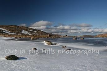Frozen Lochan on Ben Macdui, on a guided trek in the Cairngorms