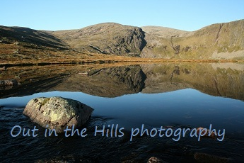 Loch Etchachan in the Cairngorms near Aviemore