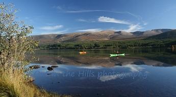 Loch Morlich in the Cairngorms near Aviemore.